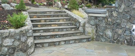 Stone walls, stairs and floor